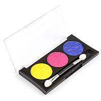 Тени для век трио L.A. Colors 3 Color Eyeshadow Palette, Peony, фото 1