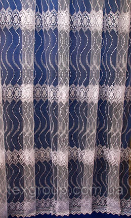 Тюль фатин с вензелями 5003, фото 2