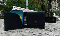 """Шкіряний гаманець """"Сase3"""", шкіряний гаманець ручної роботи, натуральна шкіра, на кнопці, фото 1"""