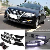 LED, диодная, светодиодная, неоновая подсветка противотуманок для автомобиля VW Volkswagen Passat B6 2006-2009