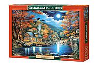 Пазлы Каюта у озера Castorland 2000 элементов