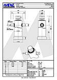 Подкузовной гидроцилиндр Mariz 145-3-900 (RMP10), фото 3