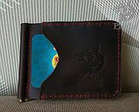 """Затискач для грошей """"Keep2"""", мужской кожаный кошелек натуральна шкіра, ручна робота, фото 1"""