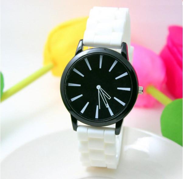 Женские часы силиконовые Geneva Casual White белые