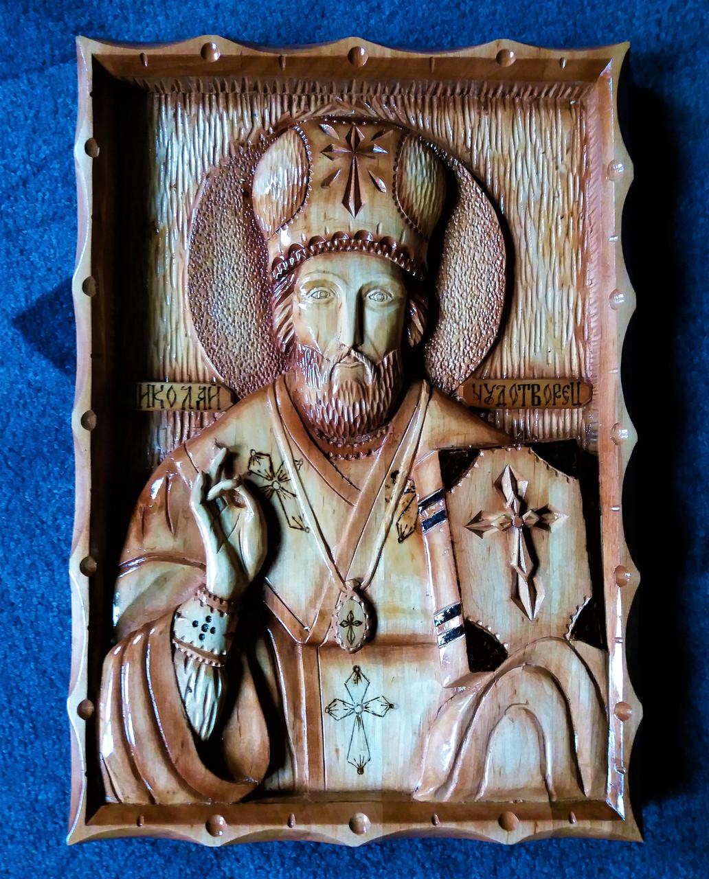 Икона резная Николая Чудотворца