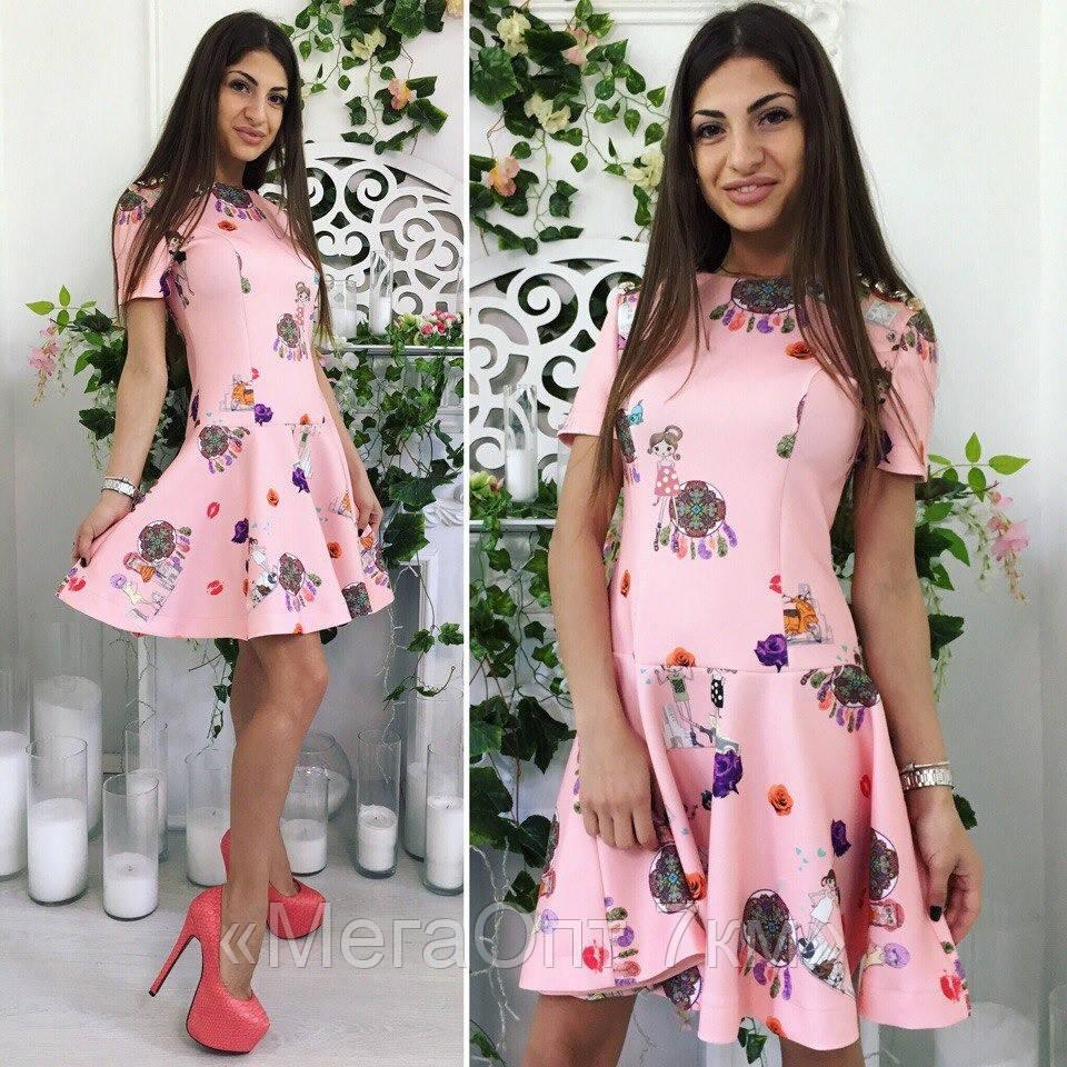 Платье (42,44,46) — неопрен  купить оптом и в розницу в одессе  7км - «МегаОпт 7км» в Одессе