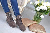 Ботинки замшевые Roberto Cavalli / под заказ