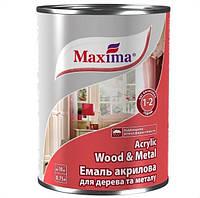"""Эмаль акриловая ТМ """"Maxima"""" для дерева и металла """"Acrylic Wood&Metal Enamel"""" белая глянцевая 0,75л"""