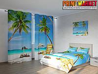 Фотокомплект пальмы и пляж