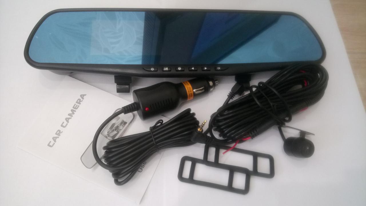 Зеркало-видеорегистратор DVR  с камерой заднего вида