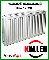 Стальной радиатор Koller 22k 500*500 боковое подключение