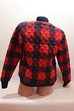 Куртка женская стеганая в клетку утепленная оптом, фото 3