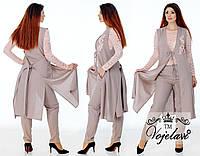 Женский костюм (48.50.52.54)  — Лён  купить оптом и в Розницу в одессе  7км