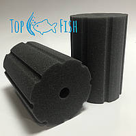 Фильтрующая губка TopFish с прорезями 10х10х20см. круглая