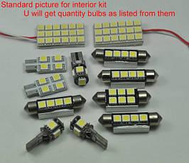 LED, светодиодная, диодная яркая подсветка для внутреннего освещения салона автомобиля VW Volkswagen B6, фото 2