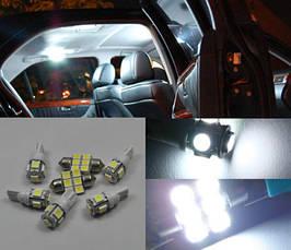 LED, светодиодная, диодная яркая подсветка для внутреннего освещения салона автомобиля VW Volkswagen B6, фото 3
