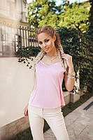 Блуза женская, королевский шёлк Армани. Розовая, 7 цветов.