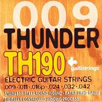 Galli Струны для электрогитары GALLI Thunder Hunter TH190 (09-42) Stainless Steel Extra Light