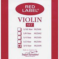 Super-Sensitive Струны для скрипки SUPER-SENSITIVE SS2105 Red Label Violin Set 3/4