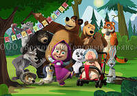 Друк їстівного фото - Формат А4 - Вафельна папір - Маша і Ведмідь №15