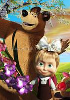 Друк їстівного фото - Формат А4 - Вафельна папір - Маша і Ведмідь №16