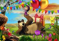 Друк їстівного фото - Формат А4 - Вафельна папір - Маша і Ведмідь №20