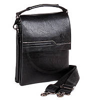 Мужская сумка Bradford 18689-1 черная искусственная кожа 17 х 23 х 5 см, фото 1