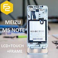 M5 NOTE Дисплейний модуль в зборі ЧОРНИЙ (экран+сенсор+рамка) ORIGINAL MEIZU