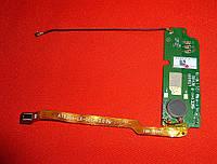 Нижняя плата Lenovo A670t со шлейфом и коаксиальным кабелем Original