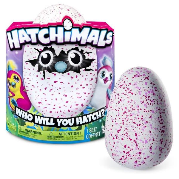 Spin Master Интерактивная игрушка Пингви в яйце красный/розовый 6028863 Hatchimals Pengualas Pink Egg
