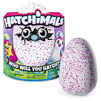 Spin Master Интерактивная игрушка Пингви в яйце красный/розовый 6028863 Hatchimals Pengualas Pink Egg, фото 1