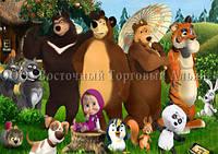Друк їстівного фото - Формат А4 - Вафельна папір - Маша і Ведмідь №27