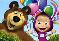 Друк їстівного фото - Формат А4 - Вафельна папір - Маша і Ведмідь №30
