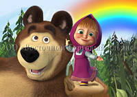 Друк їстівного фото - Формат А4 - Вафельна папір - Маша і Ведмідь №31