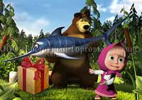 Печать съедобного фото - Формат А4 - Вафельная бумага - Маша и Медведь №32, фото 1