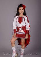 Український костюм для дівчинки Пава червоний