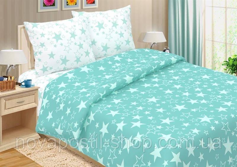 Комплект постельного белья Звезды Бирюза