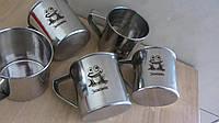 Услуга лазерной гравировки на кружке из нержавеющей стали сувенирная чашка в подарок мужу