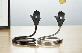 Кабель Usb-cable iPhone Metal Holder black