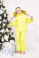 Зимний комбинезон для девочки с натуральным мехом (5 цветов)