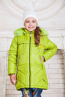 Зимняя куртка для девочки с карманами на молнии (6 цветов)