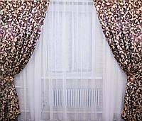 Ткань для штор блэкаут завиток № 07 (двухсторонняя)