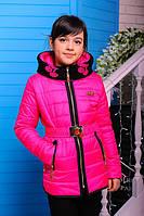 Демисезонная куртка для девочки декорированная аппликацией из страз ( 2 цвета )