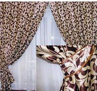 Ткань для штор блэкаут завиток № 24 (двухсторонняя)