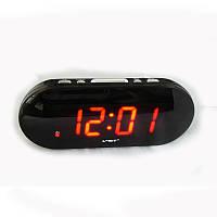 Настольный будильник vst-717-1, с отсрочкой сигнала, часы сетевые, выбор мелодии,  резервное питание