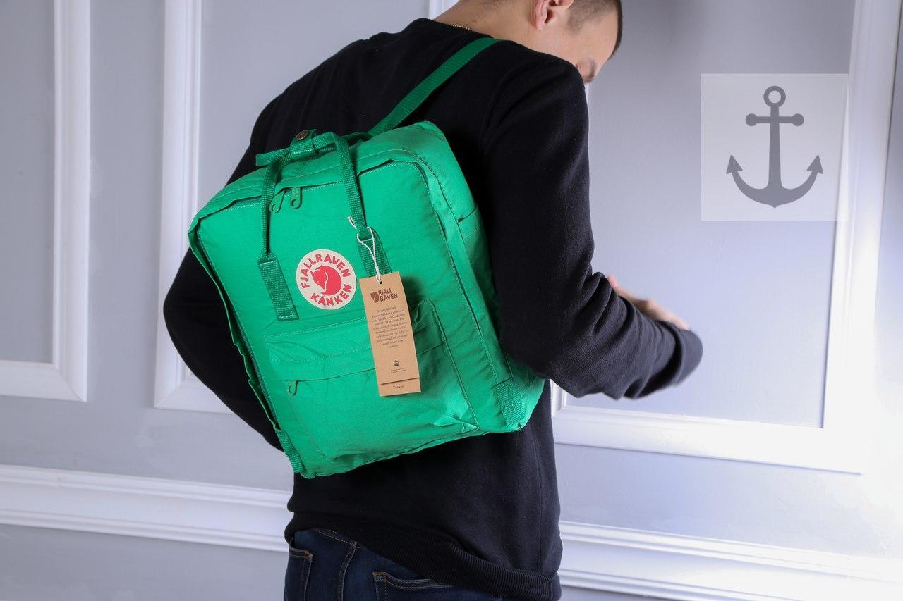 Рюкзак в стиле Fjallraven Kanken classic зеленый