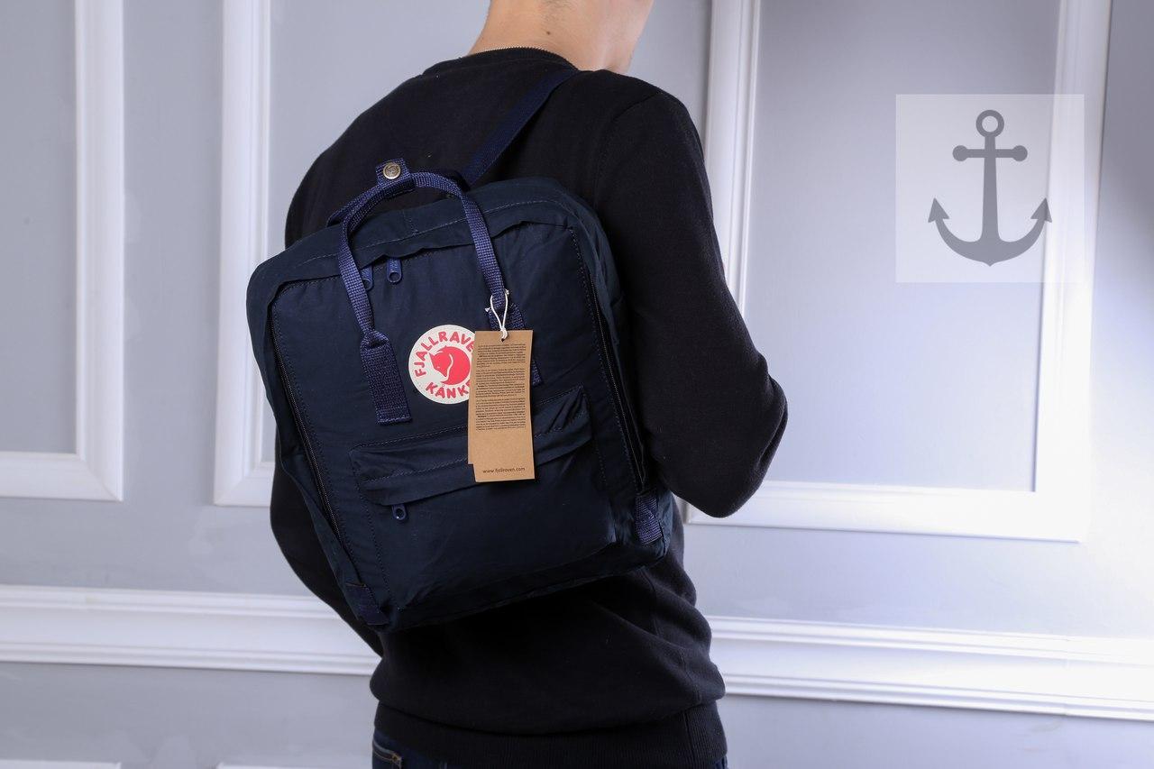 Рюкзак в стиле Fjallraven Kanken classic темно - синий
