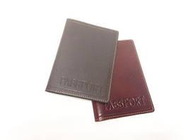 Кожаная обложка на паспорт с тиснением