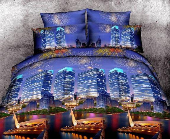 Двуспальный комплект постельного белья евро 200*220 хлопок  (5643) TM KRISPOL Украина, фото 2