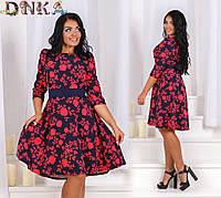 Платье трапеция больших размеров 50-56   1226